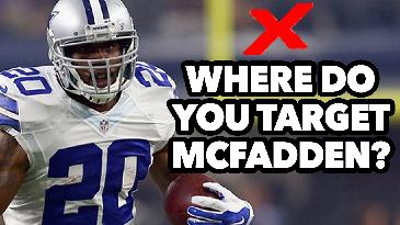 2017 Fantasy Football: Where Should You Target Darren McFadden in Your Drafts? | RotoExperts