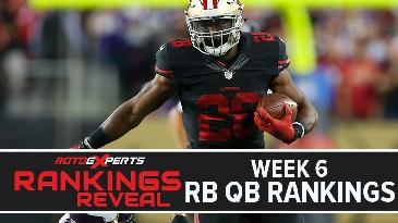 Week 6 Rankings Reveal: RBs and QBs w/ Jake Ciely   Fantasy Football 2017