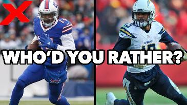 Fantasy Football 2017 | Who'd You Rather: Keenan Allen or Sammy Watkins? | RotoExperts
