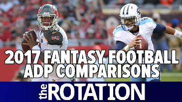 2017 Fantasy Football: ADP Comparisons w/ Mike Tagliere | The Rotation