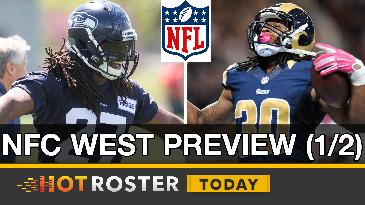 2017 Fantasy Football: Seahawks' RBs, Wilson's Value, Gurley's ADP & More! | HotRoster Today
