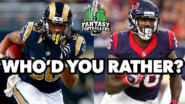 Who'd You Rather: Todd Gurley or LAAMAR miller? | The fantasy Footballers