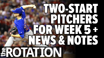 Week 5 2-Start Pitchers and News & Notes | The Rotation