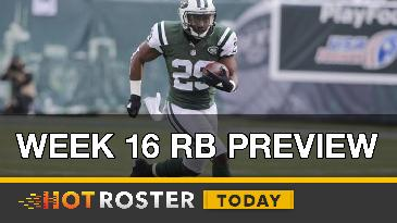 2016 Fantasy Football: Week 16 RB Preview | HotRoster Today