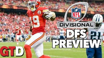 2017 Fantasy Football: Divisional Round DraftKings Picks and Preview w/ Jake Ciely | GTD